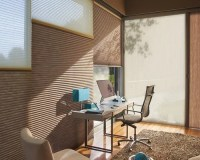 HOME OFFICE/ DEN Window Treatment Ideas