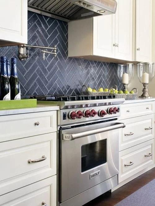 white glass subway backsplash for kitchen