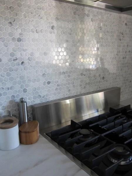 hexagon tile kitchen backsplash Hexagon Tile Backsplash Ideas, Pictures, Remodel and Decor