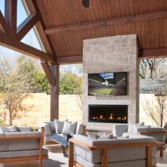 Georgia Chair Company Round Table With 6 Chairs Outdoor Fireplace Tv | Houzz