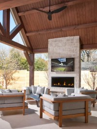 Outdoor Fireplace Tv | Houzz