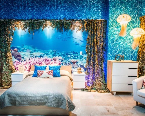 Hawaiian Beach Theme Bedroom Design Ideas & Remodel