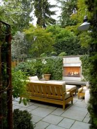 Outdoor Fireplace Garden | Houzz