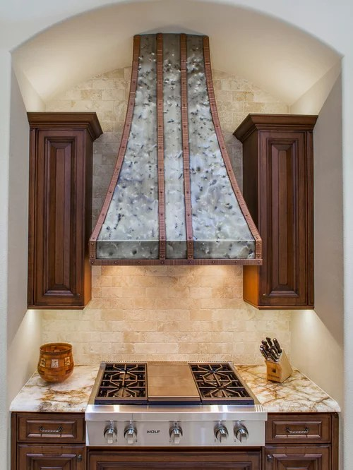 Custom Nickel Silver Range Hood And Copper Double