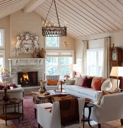 Farmhouse Great Room Home Design Ideas Pictures Remodel