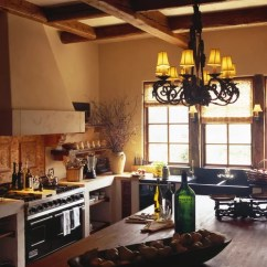 Country Kitchen Sink Gold Faucet Spanish-style | Houzz