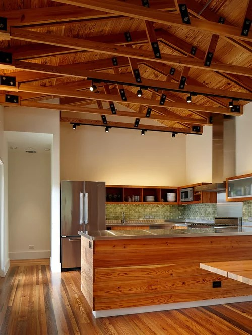 Exposed Wood Trusses  Houzz