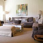 montreal sectional sofa in slate cotton duck slipcover sure fit brooklyn brownstone sunroom - eclectic new ...