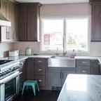 Meriam Hill House Beach Style Kitchen Boston By JW