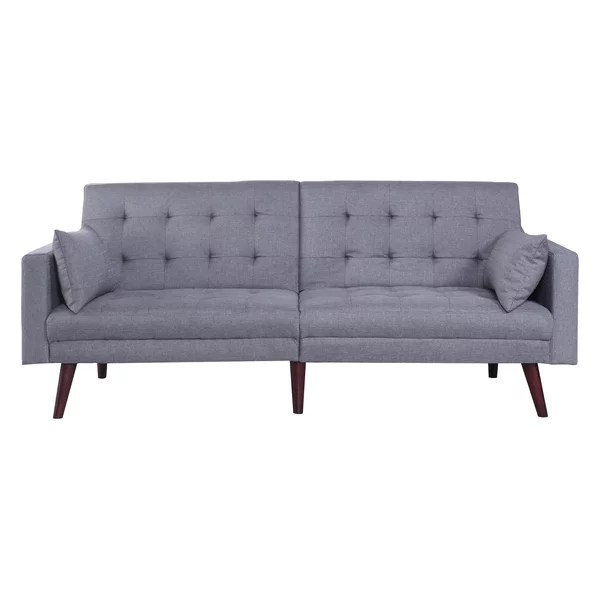 most affordable sleeper sofa corner replacement cushion covers the popular beds and sofas for nyc apartments this sleek features simple mid century design natural wooden legs it s also a versatile piece back can be folded down on one or both