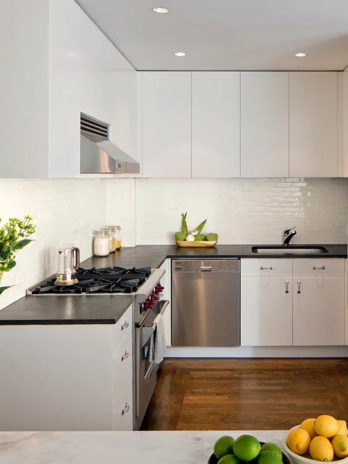 white kitchen appliances chalk board backsplash | houzz