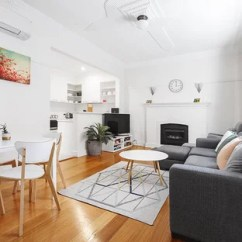 Contemporary Small Living Room Pictures Paint Ideas Grey Sofa 75 Most Popular Design For 2019 Stylish Photo Of A Enclosed In Melbourne With White Walls Medium Hardwood