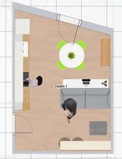 Open space con cucina e soggiorno in 25 mq: Consiglio Cucina E Soggiorno 18mq