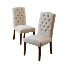 tufted dining room chairs thomas moser 50 most popular for 2019 houzz clark set of 2 natural linen