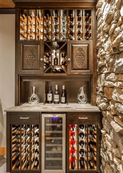 Traditional Wine Cellar by LIDA Homes