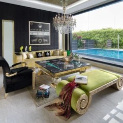 Black And Gold Living Room Ideas Big Wall Mirrors Photos Houzz Example Of An Eclectic Formal Enclosed Marble Floor Beige Design In
