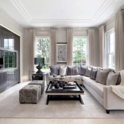 Living Room Designs With Grey Walls White Table Cream Ideas And Photos Houzz Medium Sized Contemporary Formal In Surrey A Wall Mounted Tv