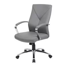 contemporary office chairs chair cover hire worcestershire 50 most popular for 2019 houzz boss products leatherplus executive gray
