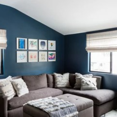 Living Room Ideas With Blue And Brown Interiors Designs Photos Navy Grey Cream Houzz Inspiration For A Small Contemporary Open Concept Dark Wood Floor Remodel