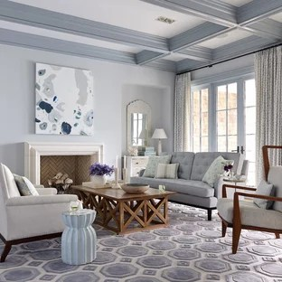 living room blue decorating ideas pillows target gray photos houzz example of a large coastal formal dark wood floor design in jacksonville with