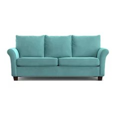 cheap teal sofas 2er sofa fur jugendzimmer 50 most popular turquoise couches for 2019 houzz handy living randy sofast velvet