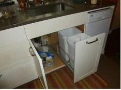 trash pullout vs storing garbage undersink