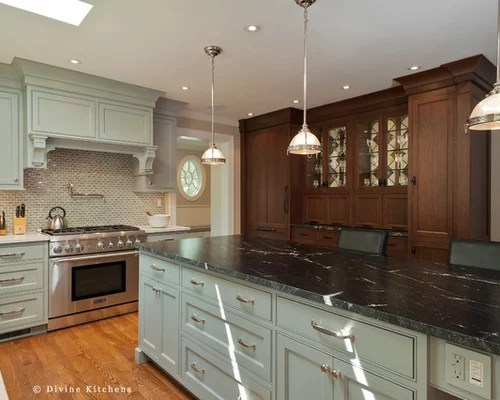 eat in kitchen island red clock via lactea granite home design ideas, pictures, remodel ...