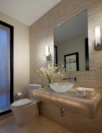 Contemporary Powder Room by Ashley Campbell Interior Design