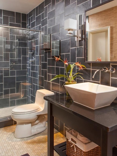 Fully Tiled Bathroom  Houzz