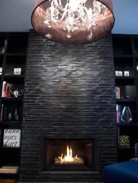 Black Stone Fireplace | Houzz