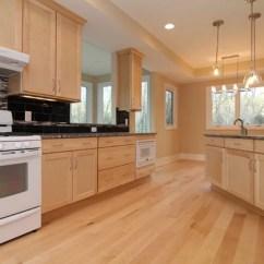 Cherry Wood Kitchen Island Cabinets Maple White Appliances | Houzz