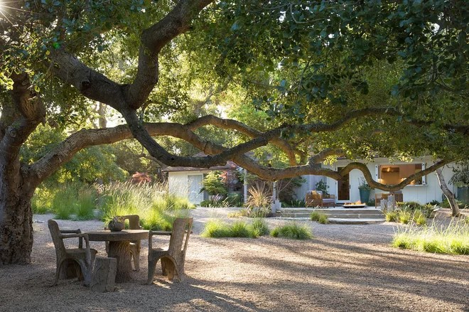 Farmhouse Landscape by Margie Grace - Grace Design Associates