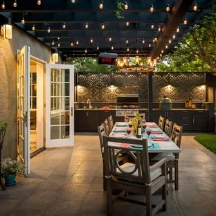 patio kitchen grey island 75 most popular design ideas for 2019 stylish example of a classic backyard in san francisco with pergola