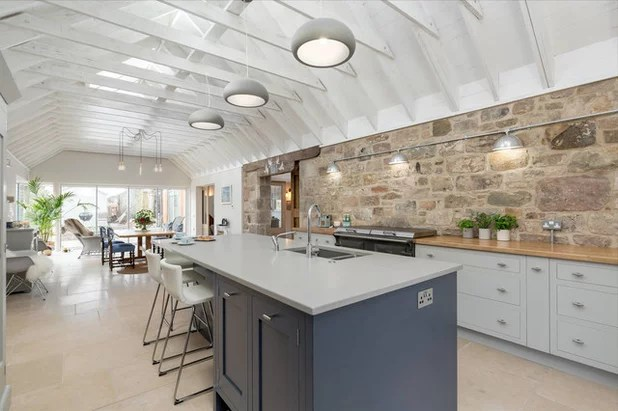 Kitchen Of The Week Industrial Chic In A Scottish Barn Conversion