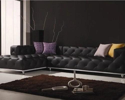 Contemporary Leather Sofa Houzz
