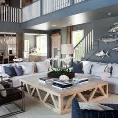 Small Living Room Ideas Blue Wood Look Tile Gray Photos Houzz Beach Style Open Concept Light Floor Idea In Dc Metro