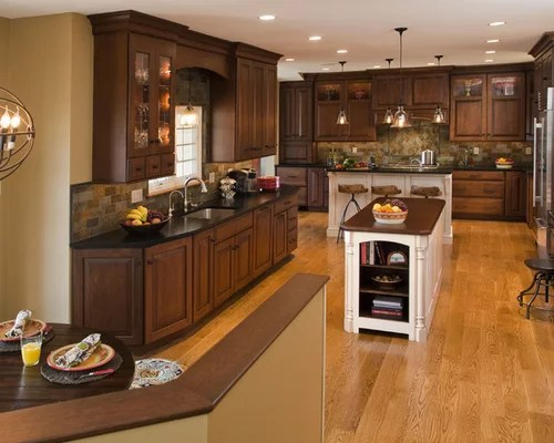 white kitchen island with granite top long table dark oak cabinets ideas, pictures, remodel and decor