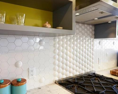 hexagon tile kitchen backsplash Hexagon Tile Backsplash | Houzz