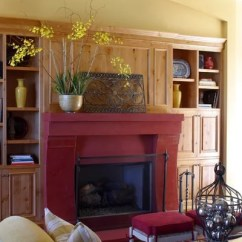 Paint Colors For Living Rooms With Vaulted Ceilings Modern Vintage Room Painted Fireplace Mantels Add Pizzazz