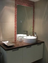 Tile Border Around Mirror | Houzz