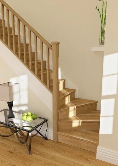 Traditional Staircase by Heritage Doors and Floors LTD