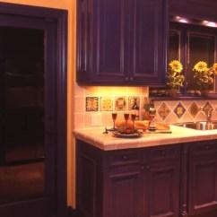 Teal Kitchen Appliances Cabinet Latch Hardware Mexican Tile Backsplash | Houzz