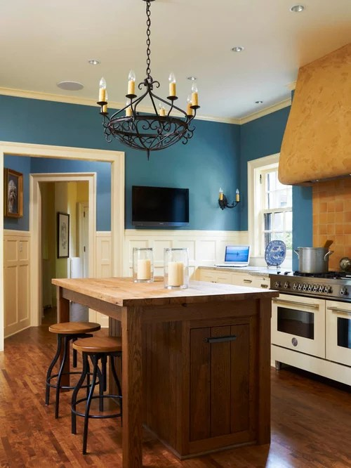 kitchen pendant lights over island tables blue walls ideas, pictures, remodel and decor