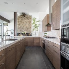 Yellow Kitchen Appliances Natural Pine Cabinets Contemporary Design Ideas & Remodel Pictures | Houzz