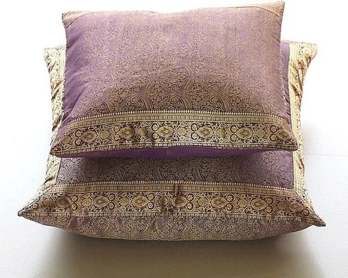 Beaded Indian Paisley 16x16 Cotton Linen Beige Cushion Covers Paisleys Contemporary Decorative