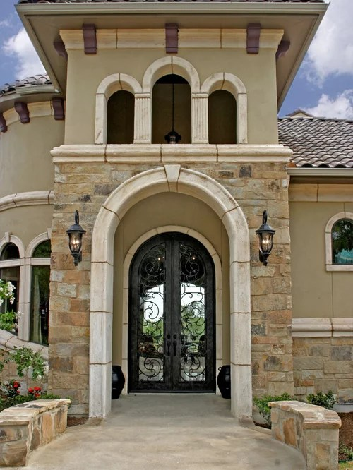 Stone And Stucco Facade Home Design Ideas Pictures