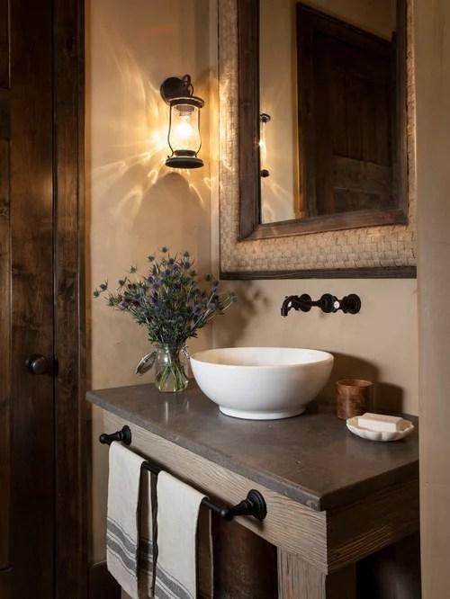 Rustic Powder Room Design Ideas Remodels  Photos