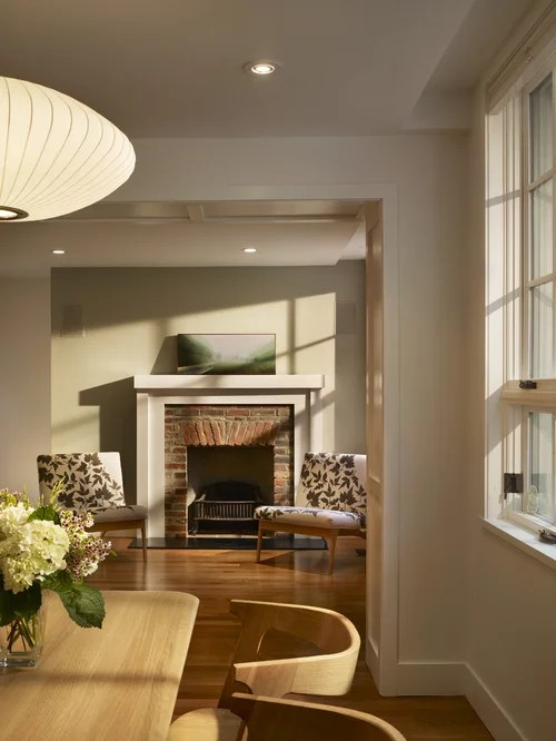 Modern Brick Fireplace Home Design Ideas Pictures Remodel and Decor