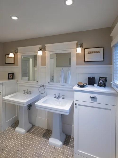 Craftsman Style Bathroom  Houzz