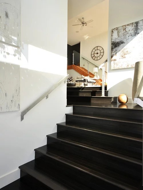 Dark Stained Stairs  Houzz